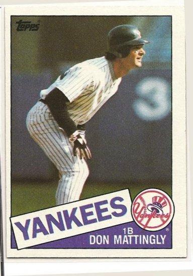 1985 Topps Baseball Card 665 C Don Mattingly Nm M New