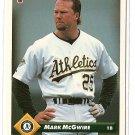 1993 Donruss baseball card #479 Mark McGwire NM/M Oakland A's
