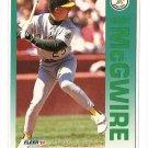 1992 Fleer baseball card #262 Mark McGwire NM/M Oakland A's