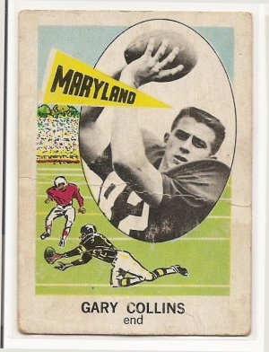 1961 Nu-card football card #128 Gary Collins G/VG (creased)