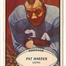 1953 Bowman football card #81 Pat Harder NM Detroit Lions