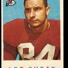 1959 Topps football card #154 (C) Leo Sugar EX Chicago Cardinals