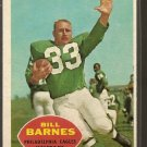 1960 Topps football card #84 Bill Barnes NM Philadelphia eagles