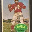 1960 Topps football card #113 Y. A. Tittle Good San Francisco 49ers