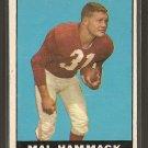 1961 Topps football card #117 Mak Hammack NM St. Louis Cardinals