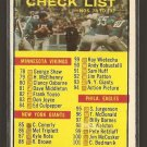 1961 Topps football card #122 Checklist EX with pencil marks on both sides