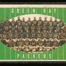 1961 Topps football card #47 Green Bay packers Team card EX