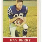 1964 Philadelphia (Philly) football card #1 (D) Ray Berry VG (light creases) Baltimore Colts