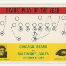 1964 Philadelphia (Philly) football card #28 (B) George Halas Chicago Bears vs Baltimore Colts NM