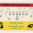 1964 Philadelphia (Philly) football card #28 George Halas Chicago Bears vs Baltimore Colts NM/M