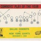 1964 Philadelphia (Philly) football card #56 (B) Tom Landry Dallas Cowboys vs New York Giants NM/M
