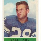 1964 Philadelphia (Philly) football card #62 Yale Larry NM/M