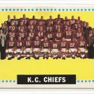1964 Topps football card #110 Kansas City Chiefs team card EX