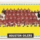 1964 Topps football card #88 Houston Oilers team card VG/EX