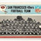 1966 Philadelphia (Philly) football card #170 San Francisco 49ers team card VG