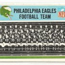 1966 Philadelphia (Philly) football card #131 Philadelphia Eagles Team card VG