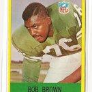 1967 Philadelphia (Philly) football card #135 Bob Brown EX/NM Philadelphia Eagles