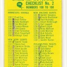 1967 Philadelphia (Philly) football card #198 Checklist 2 VG - marked