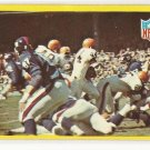 1967 Philadelphia (Philly) football card #193 (C) Cleveland Browns vs New Your Giants EX