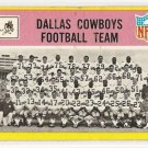 1967 Philadelphia (Philly) football card #49 (B) Dallas Cowboys Team card GOOD