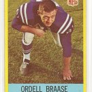 1967 Philadelphia (Philly) football card #16 (B) Ordell Braase NM Baltimore Colts