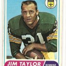 1968 Topps football card #160 Jim Taylor VG New Orleans saints
