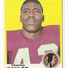 1969 Topps football card #67 (B) Charley Taylor VG+ Washington redskins