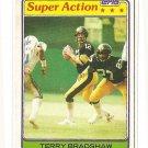 1981 Topps football card #88 Terry Bradshaw Super Action NM