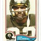 1982 Topps football card #219 John Stallworth EX/Nm Pittsburgh Steelers