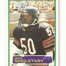 1983 Topps football card #38 Mike Singletary RC NM Chicago Bears