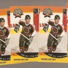 5 1990/91 Wayne Gretzky hockey card #340 all NM All Star game