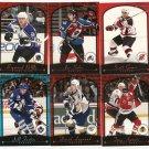 2000/01 Topps Premier Plus hockey PROMO card set #'s PP1 - PP6 NM