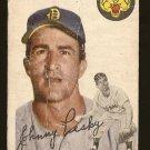 1954 Topps baseball card #63 Johnny Pesky F/G Detroit Tigers