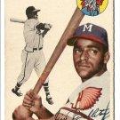 1954 Topps baseball card #165 Jim Pendleton VG+ Milwaukee Braves
