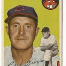 1954 Topps baseball card #160 Red Kress VG Cleveland Indians