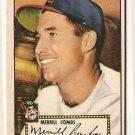 1952 (original) Topps baseball card #18 Merrill Combs VG - red back