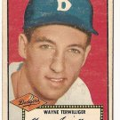1952 (original) Topps baseball card #7 Wayne Terwilliger VG- black back