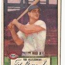 1952 (original) Topps baseball card #29 Ted Kluszewski G+ black back