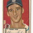 1952 (original) Topps baseball card #33 Warren Spahn good black back