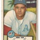 1952 (original) Topps baseball card #21 (B) Ferris Fain VG black back