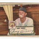 1952 (original) Topps baseball card #28 Jerry Priddy P/F black back