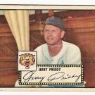 1952 (original) Topps baseball card #28 (B) Jerry Priddy good black back