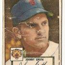 1952 (original) Topps baseball card #25 Johnny Groth fair black back
