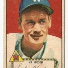 1952 (original) Topps baseball card #60 Sid Hudson VG red back