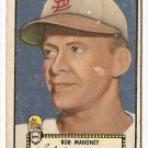 1952 (original) Topps baseball card #58 Bob Mahoney fair black back