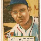 1952 (original) Topps baseball card #75 (B) Wes Westrum fair red back