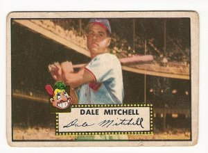 1952 (original) Topps baseball card #92 (D) Dale Mitchell good red back