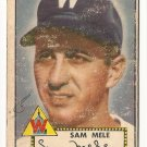 1952 (original) Topps baseball card #94 Sam Mele fair
