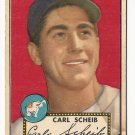 1952 (original) Topps baseball card #116 Carl Scheib G+