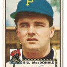 1952 (original) Topps baseball card #138 (B) Bill MacDonald VG